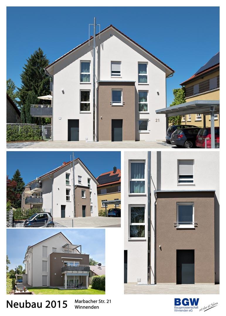 2016 Collage Marbacher Straße - Alle BGW-Häuser