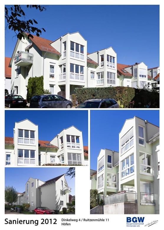 Collage Dinkelweg Ruitzenuehle - Alle BGW-Häuser