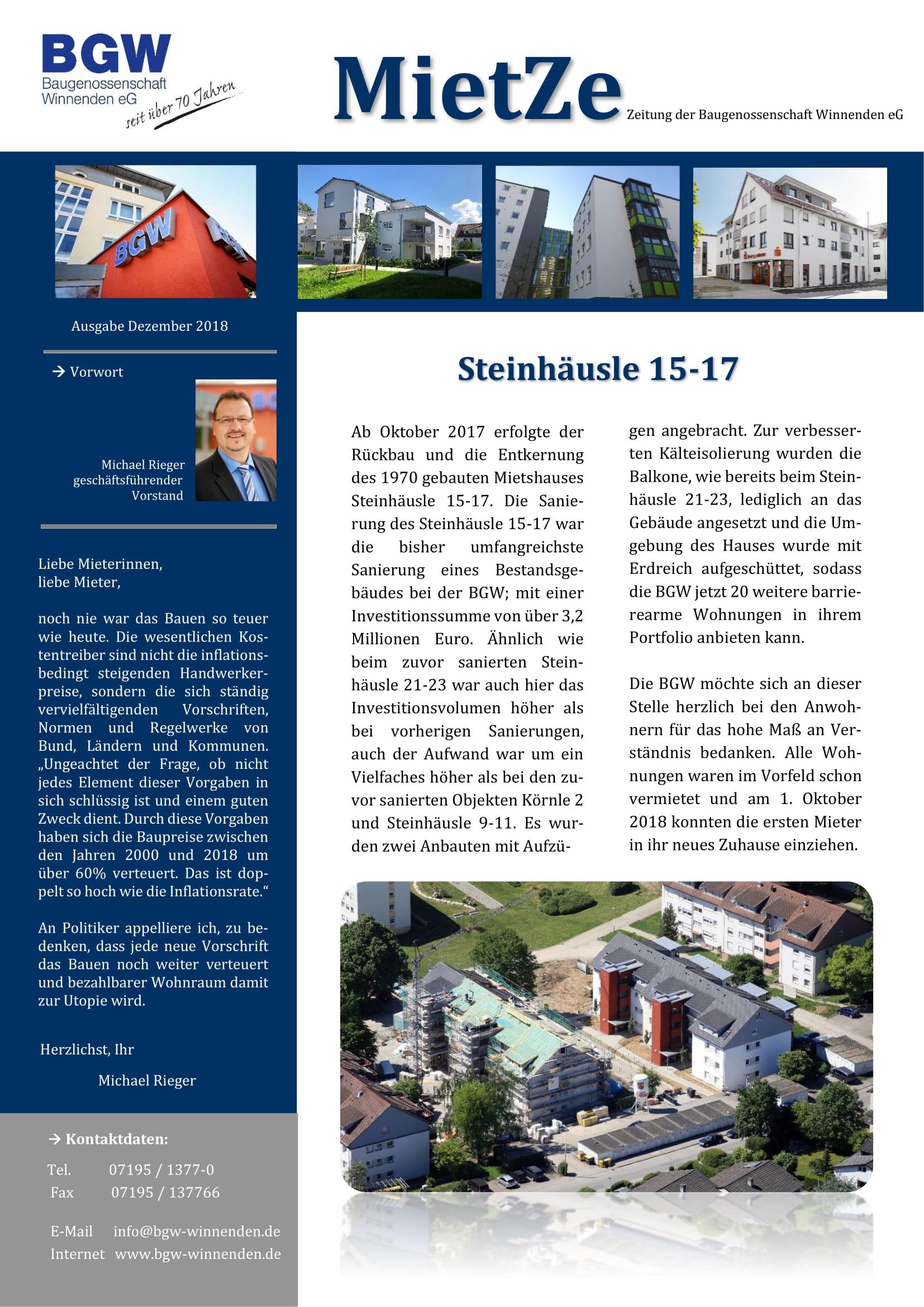 Mietze 2018 1 - Infos