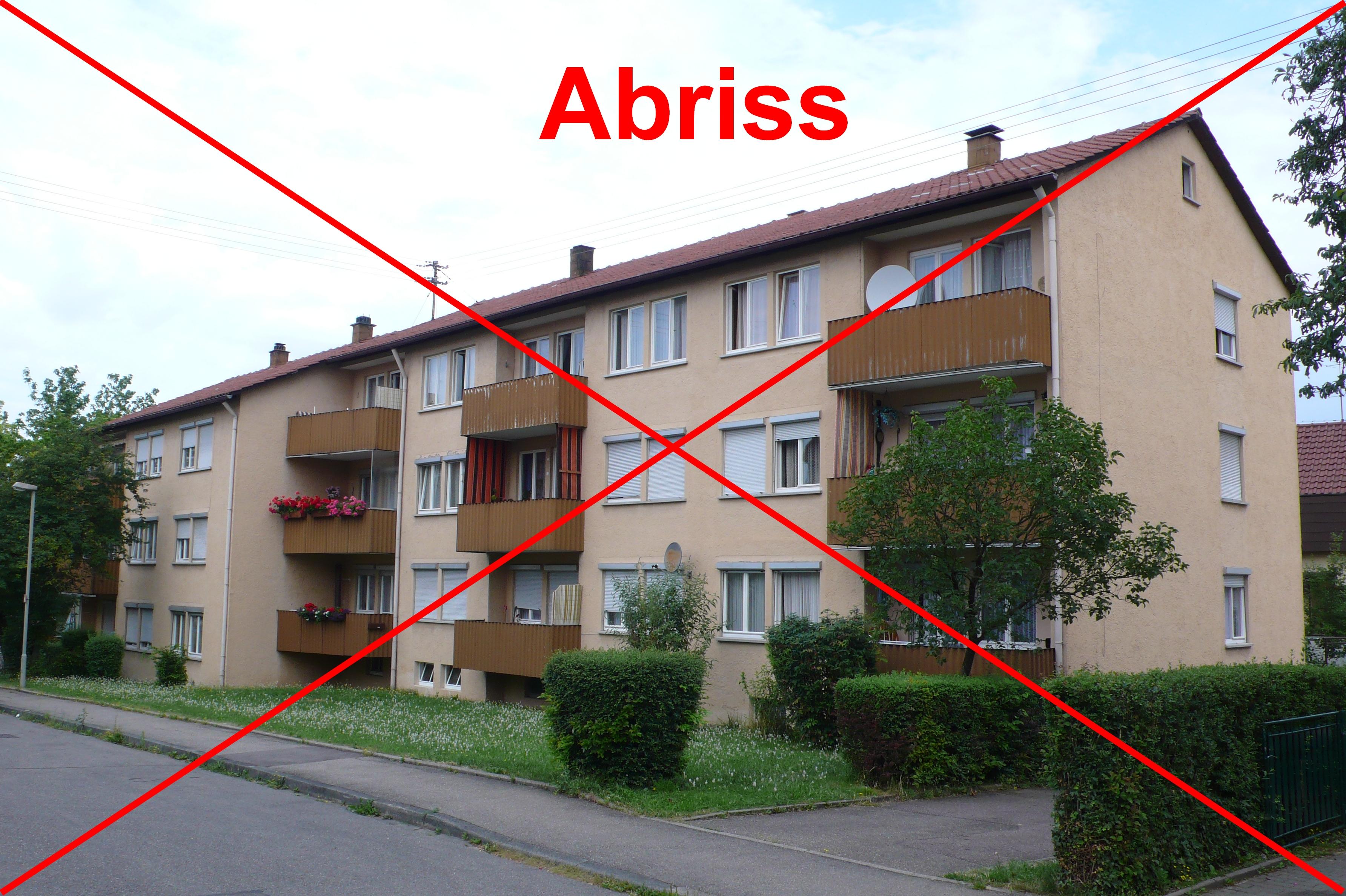 Schwalbenweg Abriss - Alle BGW-Häuser