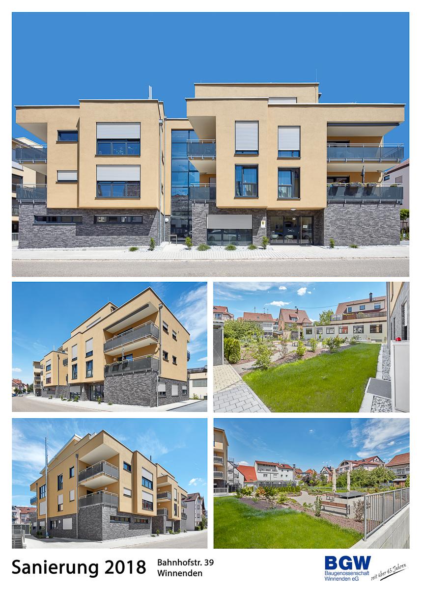 Collage Bahnhofstr. - Alle BGW-Häuser